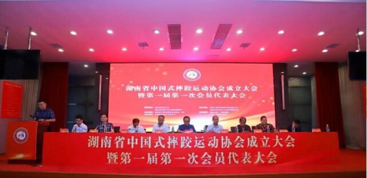 湖南省中国式摔跤运动协会成立大会在长沙
